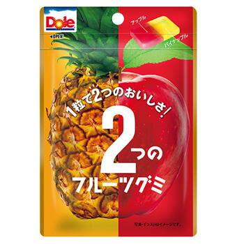 【訳あり】 賞味期限:2018年7月 不二家 45g ドール 2つのフルーツグミ(パイナップル&アップル)