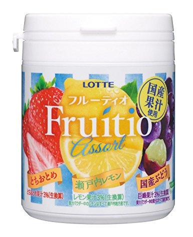 【訳あり】 ロッテ フルーティオ アソート ファミリーボトル 143g