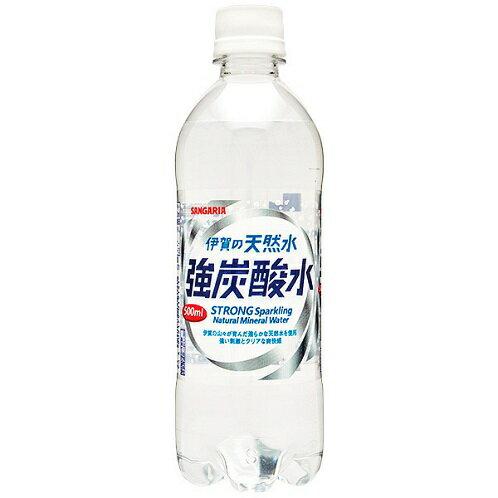 【M】【24本セット♪】 サンガリア 伊賀の天然水 強炭酸水 (500ml×24本)