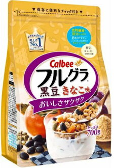 All coupon & articles point double ~♪ expiration date discounted by 200 yen: May 5, 2017 カルビーフルグラ black soybean きなこ taste (700 g)