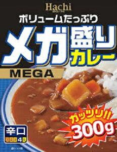 【訳あり】 賞味期限:2020年10月10日 ハチ食品 メガ盛りカレー 辛口 (300g)