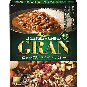 大塚食品 ボンカレー グラン 森のめぐみ デミグラスカレー 中辛 (200g) レトルトカレー GRAN