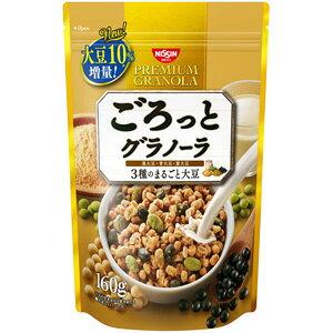 【※ scb MA】 日清シスコ ごろっとグラノーラ 3種のまるごと大豆 (160g) きなこ味のシリアルに3種のまるごと大豆がたっぷり