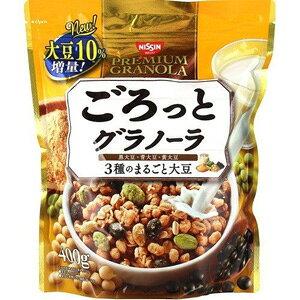 【※ scb MA】 日清シスコ ごろっとグラノーラ 3種のまるごと大豆 (400g) きなこ味のシリアルに3種のまるごと大豆がたっぷり