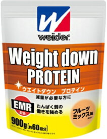 森永 ウイダー ウエイトダウン プロテイン フルーツミックス味 (900g) 運動で減量したい方に 【A】