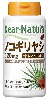 【A】アサヒフード ディアナチュラ(Dear-Natura) ノコギリヤシ+トマトリコピン 60日分(120粒) 中高年男性の健康をサポート