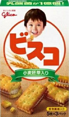 グリコ ビスコ 小麦胚芽入り (15枚入) 【y】