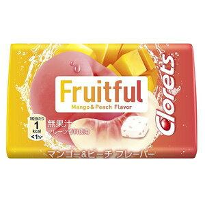 【訳あり】 賞味期限:2021年2月28日 クロレッツ フルーツフル タブ マンゴー&ピーチ (22.5g) 菓子
