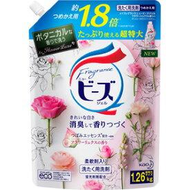 【T 超特大サイズ】 花王 フレグランス ニュービーズ ジェル フラワーリュクスの香り つめかえ用 超特大サイズ (1260g) 柔軟剤入り洗濯用洗剤