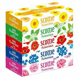 スコッティ ティシュー フラワーボックス 320枚(160組)×5箱パック