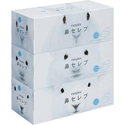 店内全品ポイント10倍〜【zr】 ネピア鼻セレブ ティシュ ( 400枚(200組)*3コ入 )