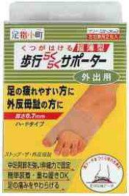 ミノウラ  足指小町 歩行らくらくサポーター ハードタイプ (左右兼用2枚入り) 超薄型 外反母趾 後期 サポーター