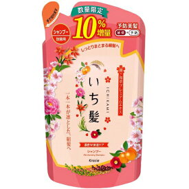 【10%増量品】 クラシエ いち髪 濃密W保湿ケア シャンプー つめかえ用 10%増量 (374mL)