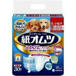 【J】 ユニチャーム ペット用 紙オムツ Sサイズ(30枚入)小型犬用