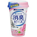 【訳あり】 猫トイレまくだけ 香り広がる消臭ビーズ ピュアフローラルの香り (450ml) ペット用消臭用品