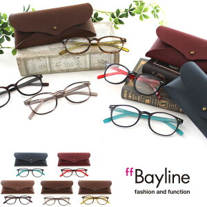 Bayline TR90 ボストンフレーム リーディンググラス 老眼鏡 男女兼用 カジュアル おしゃれ シンプル ケース付