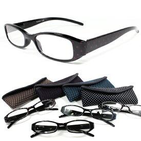 【SALE】 リーディンググラス メタリック4カラードット柄スポンジケース お洒落 老眼鏡 おしゃれ レディース お洒落眼鏡 シニアグラス