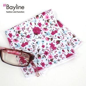 ≪おしゃれで可愛い眼鏡拭き♪≫フラワー柄(ピンク)花柄 小花柄 眼鏡小物 雑貨 おしゃれ プレゼント 女性