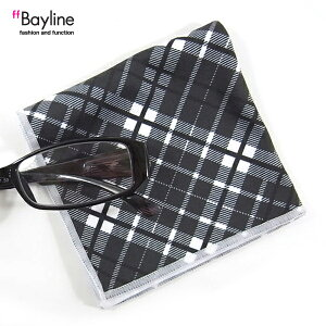 ≪おしゃれで可愛い眼鏡拭き♪≫バイアスチェック柄(ブラック) 眼鏡小物 雑貨 おしゃれ プレゼント ラッピング無料 母の日 敬老の日 父の日