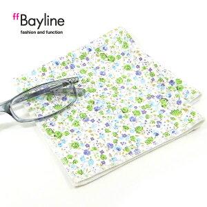 ≪おしゃれで可愛い眼鏡拭き♪≫小花柄(ブルー) 眼鏡小物 雑貨 おしゃれ プレゼント ラッピング無料 母の日 敬老の日