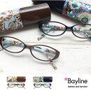 Baylineリーディンググラス(老眼鏡)オーバルフレームフラワー【楽ギフ_包装選択】老眼鏡女性おしゃれ