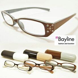 【SALE】 リーディンググラス ラインストーン バイカラーデザイン[B] シニアグラス 老眼鏡 おしゃれ 女性