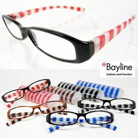 Bayline ベイライン リーディンググラス 老眼鏡 マリンストライプ男女兼用老眼鏡 全国定形外郵便送料無料 あす楽対応