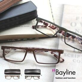【SALE】Bayline(ベイライン) リーディンググラス スクエア カモフラージュ 老眼鏡 メンズ おしゃれ 男性 あす楽対応