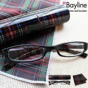 Bayline リーディンググラス &クロスセット チェック [ブラックチェック] 女性 老眼鏡 おしゃれ レディース あす楽対応