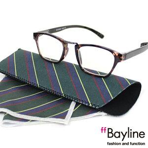 Bayline『neck readers』 リーディンググラス &クロスセット 老眼鏡 おしゃれ シニアグラス ギフト