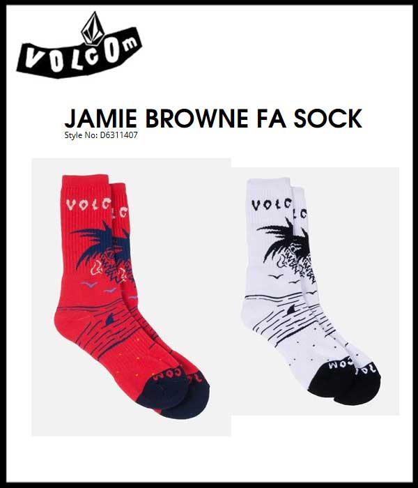 VOLCOM ボルコム【 VOLCOM JAMIE BROWN SOCK 】ストリート用ソックス 靴下