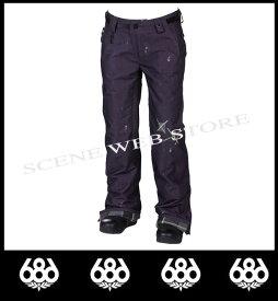中古品 レンタル可 【あす楽対応】スノーパンツ2012-2013モデル686 Ltd Destructed Patchwork Denim Insulated Pant(Black Denim Thrash)WOMENS【シックスエイトシックス国内正規品】【送料無料】【fy16REN07】