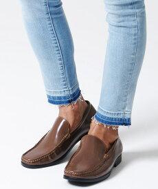 【10%OFF対象】フェイクレザーヴァンプローファー/全3色【あす楽対応】【ローファー メンズ 靴 シューズ スリッポン きれいめ ビジネス カジュアル フェイクレザー 紳士靴 シンプル 定番 ブラック ブラウン】