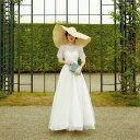 ウェディングドレス 花嫁 二次会 海外挙式 リゾート ブライダル ロングドレス 上品 復古 前撮り シンプル ワンピース …