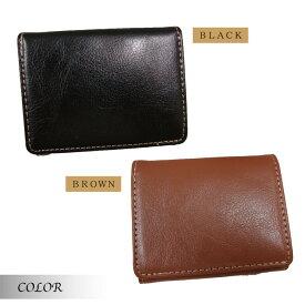 小型折財布 小さい財布 コンパクト 革 財布 り財布 メンズ レザー 薄型 本革 小型