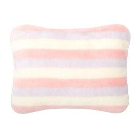 蓄熱ふんわり湯たんぽ ストライプ柄 ピンク 取り寄せ商品A