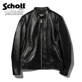 Schott/ショット 公式通販 | CAFE RACER JACKET/カフェレーサー ジャケット 柔らかい羊革 レザージャケット【送料無料】
