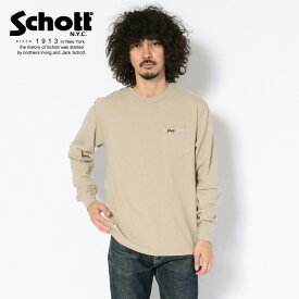 Schott/ショット 公式通販 | LONGSLEEVE POCKET BASIC SMALL LOGO/ロンT ベーシックスモール ロゴ【送料無料】