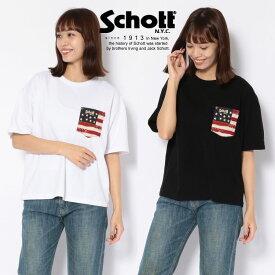 Schott/ショット 公式通販・直営店限定 | FLAG POCKET T-SHIRT/フラッグ ポケット T-シャツ【送料無料】