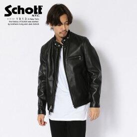 Schott/ショット 公式通販 | 定番シングルライダース アメリカ製 脱着可能なファーライニングベスト付き 641RIDERS/シングルスタンドライダース 本革 牛革【送料無料】