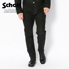 Schott/ショット 公式通販 | STRETCH TAPERED BLACK DENIM/ストレッチ テーパード ブラック デニム ジーパン ジーンズ パンツ ズボン