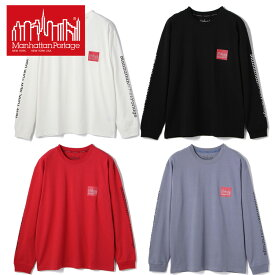 Manhattan Portage/Box Logo Print T-Shirt/ボックス ロゴ Tシャツ/マンハッタンポーテージ ストリート感溢れるデザインが目を引くマンハッタン ポーテージの定番ロングスリーブTシャツ