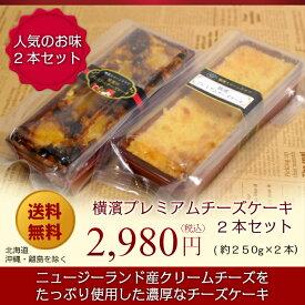 【送料無料】【冷凍でお届け】横濱プレミアムチーズケーキ2本セット