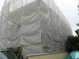 飛散防止ネット(塗装メッシュシート) 白 3.6m×5.4m【5梱包入り】ラッセル織で高い飛散効果