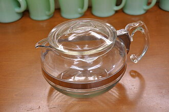 Old Pyrex frame ware 6 Cup teapot early type PYREX Corning