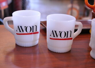 Avon mugs fire King FireKing AVON