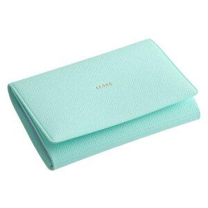ADELE 10Pカードケース ターコイズ LBW05-120TQ シーンを選ばないシンプルなデザイン。