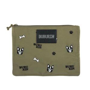 ブブ刺繍ナイロンポーチ KH B198216-54 シンプルでかわいらしいデザイン。