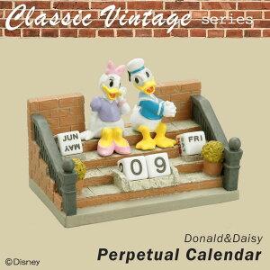セトクラフト Classic Vintage series 万年カレンダー(ドナルド&デイジー) SD-5576-350 古き良き時代が感じられるオールドキャラクターアイテム☆ 送料無料