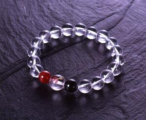 白水晶大当たりブレス 白水晶 赤メノウ オニキス パワーストーン ブレスレット 送料無料 メンズ レディース 効果 ハンドメイド 浄化 種類 意味 アクセサリー クリスタル